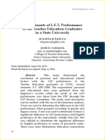 Determinants of LET Performance 1325756724