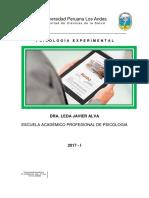 Sílabos de Psicología Experimental 2017-I