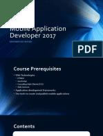 Mobile Application Developer 2017