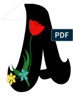 Alfabet Si Cifre Cu Flori