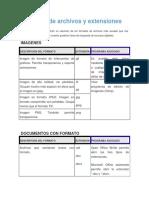Formatos de Archivos y Extensiones
