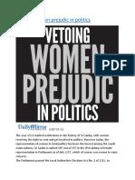 Vetoing women prejudic in politics.docx