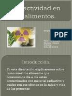 Radiactividad en Los Alimentos