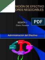 ADMINISTRACIÓN DE EFECTIVO Y LOS VALORES NEGOCIABLES