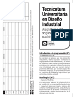 Folleto Diseño Industrial
