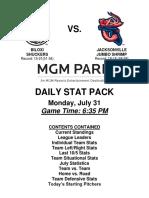 7.31.17 vs. JAX Stat Pack