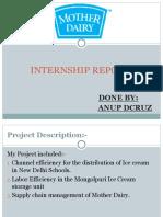 Internship Report Presentation 1