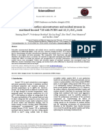 Analysis of Subsurface Microstructure and Residual Stresses in 2014 Procedi