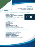 Temario Autocad Civil 3d