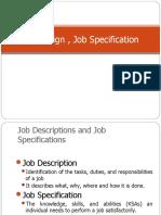 Job Design Job Description