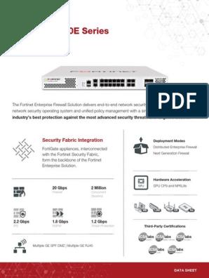 FortiGate 200E Series | Firewall (Computing) | Computer Network
