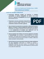 40 Propuestas de APAC Para La Aplicación de La Ley Audiovisual Córdoba