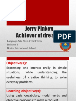 Language Arts - Jerry Pinkey