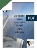 Papel Da Psicologia Na Aviação