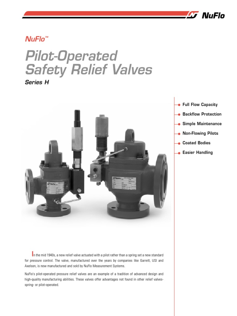 Relief Valve Catalog Nf00033 04 Stainless Steel Pilotoperated Valves Hydraulic Circuits