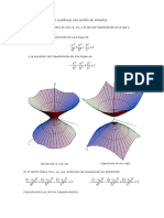 Los Hiperboloides Son Cuádricas Con Centro de Simetría