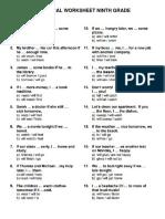 Practical Worksheet Ninth Grade