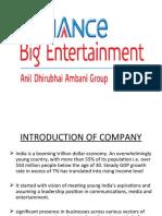 Presentation on Reliance Big Entertainment