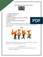 Informe sobre Wiki y Blog