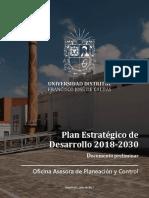 Documento Plan Estratégico de Desarrollo UD 29072017