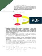 Población y Muestra ,Diseño Muestral