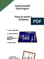 Instrumental Qx Para Parto y Césarea