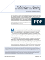 The Political Economy of Education Financial Literacy and the Racial Wealth Gap