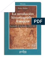 Burke - La revolución historiográfica francesa