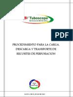 Proc. Carga Descarga y Transporte de Recortes de Perforación