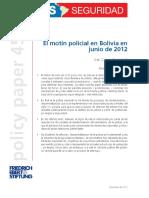 El Motín Policial en Bolivia en JUNIO de 2012
