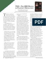 The 2009 Manual of the Plaintiff s Revolution
