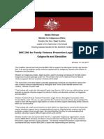 Media Release for Family Violence Prevention Legal Service in Kalgoorlie and Geraldton