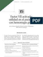 Factor VII Activado. Utilidad en El Paciente Con Hemorragia Grave