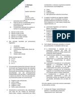 Exercícios de Protozoários e Doenças Causadas Por Protozoários
