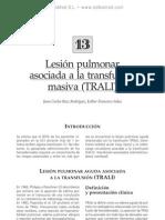 Lesio¦ün pulmonar asociada a la transfusio¦ün masiva (TRALI)