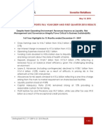 Sterling Bank PLC Full Year 2009 and Q1 2010 Results Earnings Release - May 14, 2010