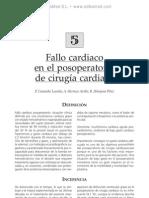 Fallo cardiaco en el posoperatorio de cirugi¦üa cardiaca