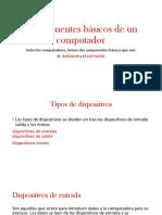 Componentes Básicos de Un Computador