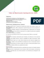 Taller de Reanimacion Cardiopulmonar Rcp