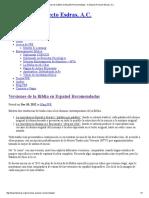 Versiones de La Biblia en Español Recomendadas