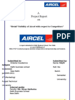 Rajiv Ranjan (Aircel Project Report) retail visibility of aircel with respect to competitors