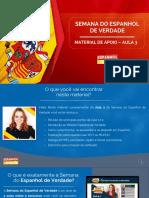 Material de Apoio Da Aula 3 Da 3ª Semana Do Espanhol de Verdade Ed 1