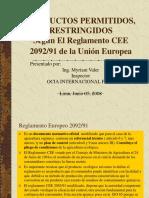 Productos Permitidos y Restringidos Segun CEE