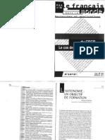 CARTON, Francis. L'Autonomie - Un Objectif de Formation_0