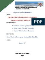Exposicion de Prog. Lineal Entera