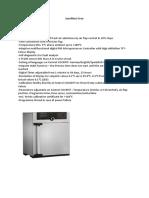 Spesifikasi Oven