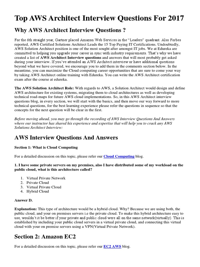 AWS Interview Question | Scalability | Amazon Web Services
