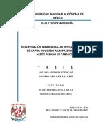 Recuperación Mejorada Con Inyección Cíclica de Vapor Aplicado a Un Yacimiento de Aceite Pesado en Tabasco(1)