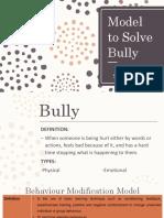 Model to Solve Bully