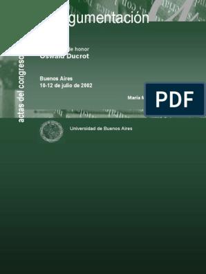 Congreso Negroni Del pdf La Actas Argumentación Internacional BorWdCQxe